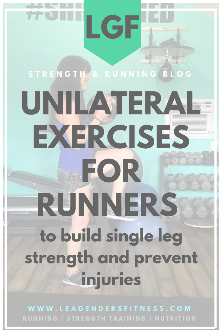 unilateral training for runners. save to your favorite Pinterest running board for later.
