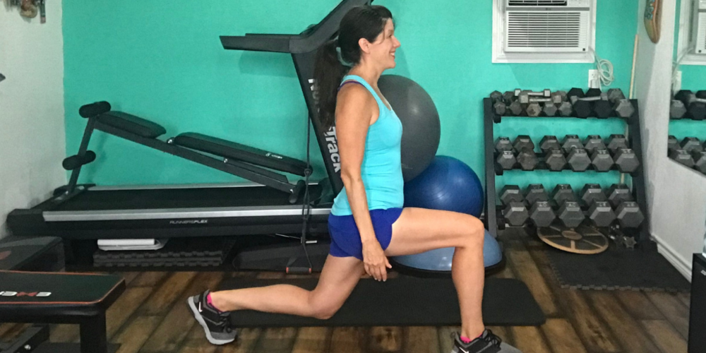 forward lunge in the sagittal plane