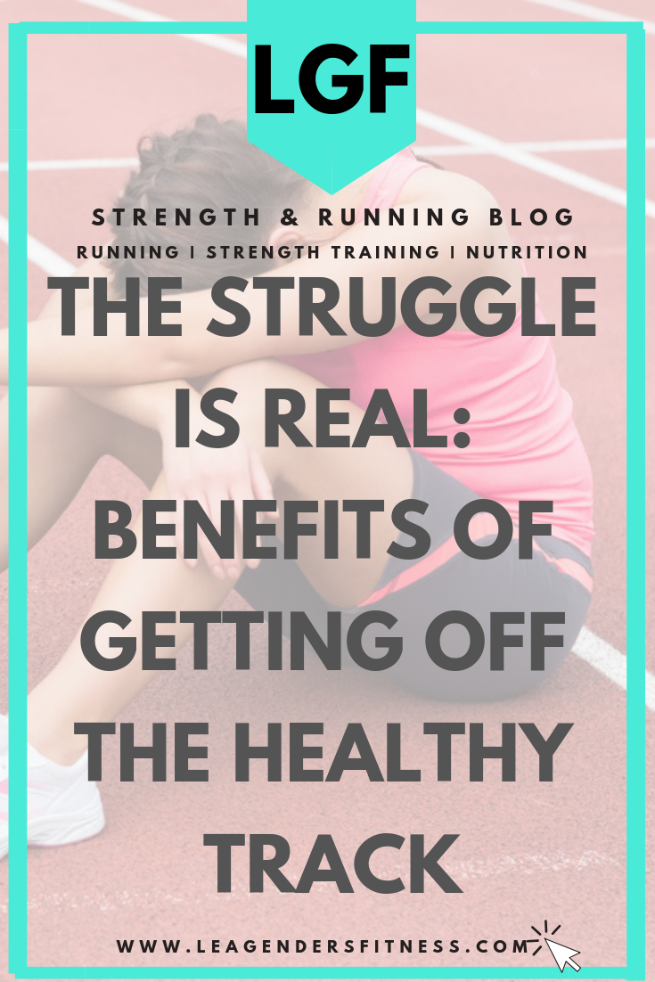 Can there be benefits to getting off track of your health and fitness goals? Focus on the positives while you work to make better choices. Save to your favorite Pinterest board for later.