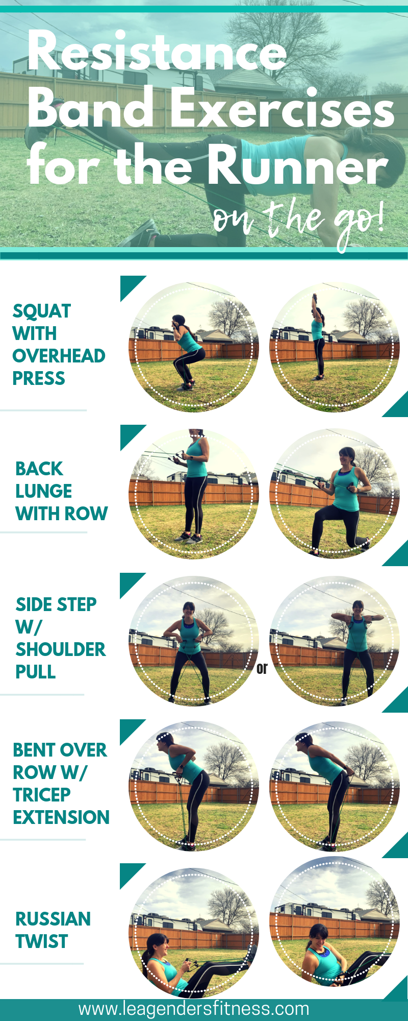 resistance band exercises for runners on the go. Save to your favorite Pinterest board for later.