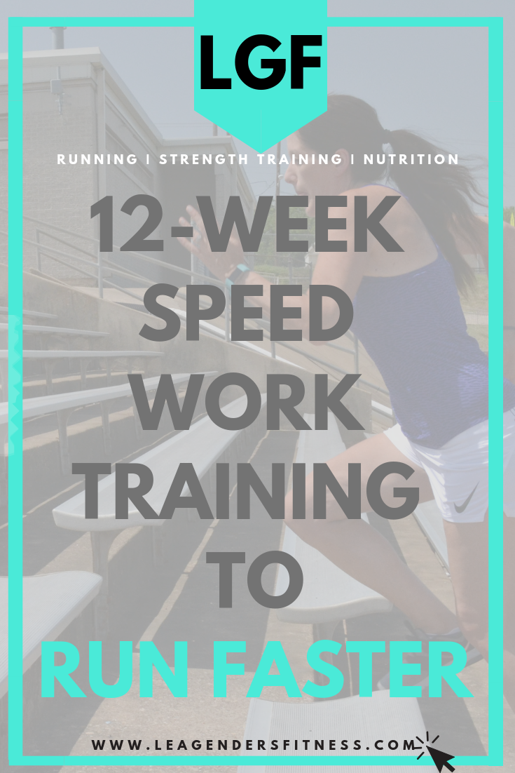 12 week speed work progressions to run faster. save to your favorite running Pinterest board for later.