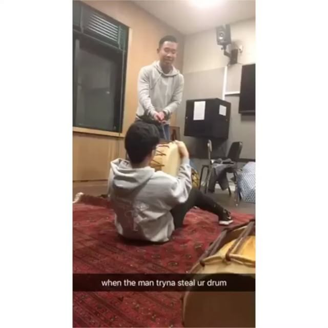 Buk tightening shenanigans 👻 #dontlethimtakeit #bukbois #decal #ot #decalorientation #getreadywithus #buk #ego #korean #drumming