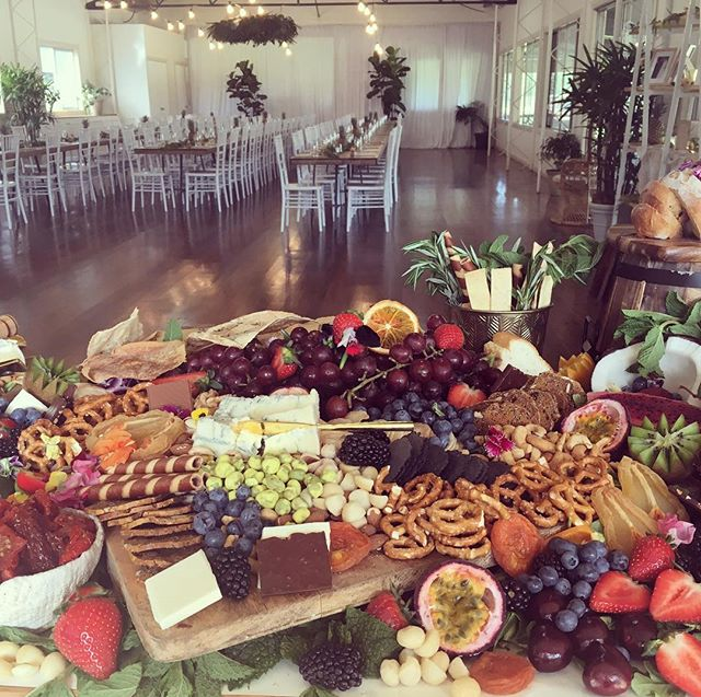 Flashback to this time yesterday and the amazing @yourplattermatters spread that greeted Amelia and Will's guests on arrival at Moller Pavilion. The perfect alternative to canapés! Thanks to @yourplattermatters @hamptoneventhire @hartandflowers #weddingplanner #weddingcoordinator #wedding #catering #elleandsea  #goldcoastwedding #byronbaywedding