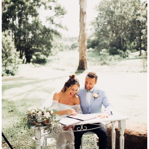 We are so excited to share photos from @rafwtr of our wonderful Amelia and Will who were married in Bangalow NSW last December. It was a perfect and happy day #weddingplanning #weddingplanner #weddingcoordinator #weddingcoordination #wedding #eventmanagement #clients #goldcoastweddingplanner #elleandsea @hartandflowers @grace_loves_lace @bc_celebrant