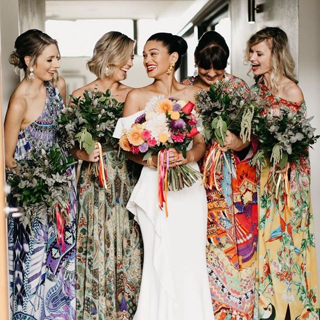 @kristinawild_ wild captured 'G' and her bridesmaids perfectly. Just fun and colour! Stunning flowers by @hartandflowers ❤️ #elleandsea #weddingcoordinator #goldcoastweddingplanner #wedding #goldcoastwedding #weddingflowers #bride 📷 @kristinawild_