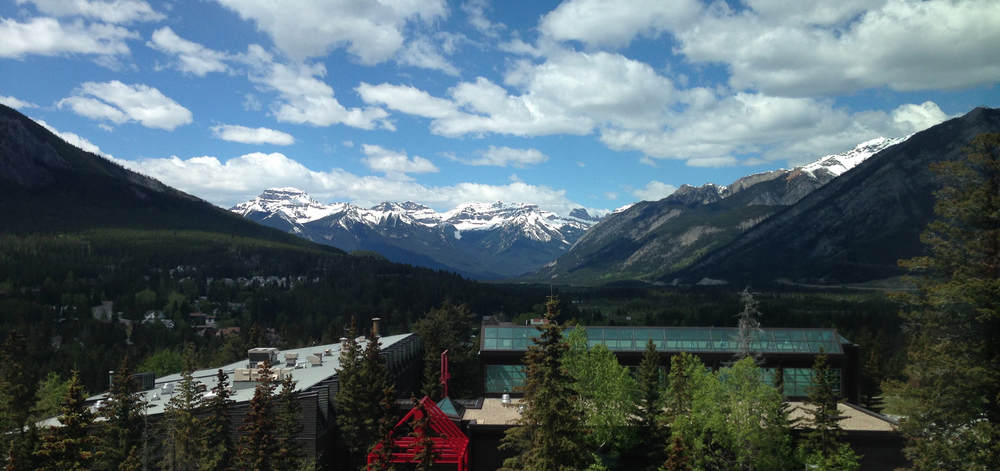 Amazing view of the Canadian Rockies from the Banff Centre