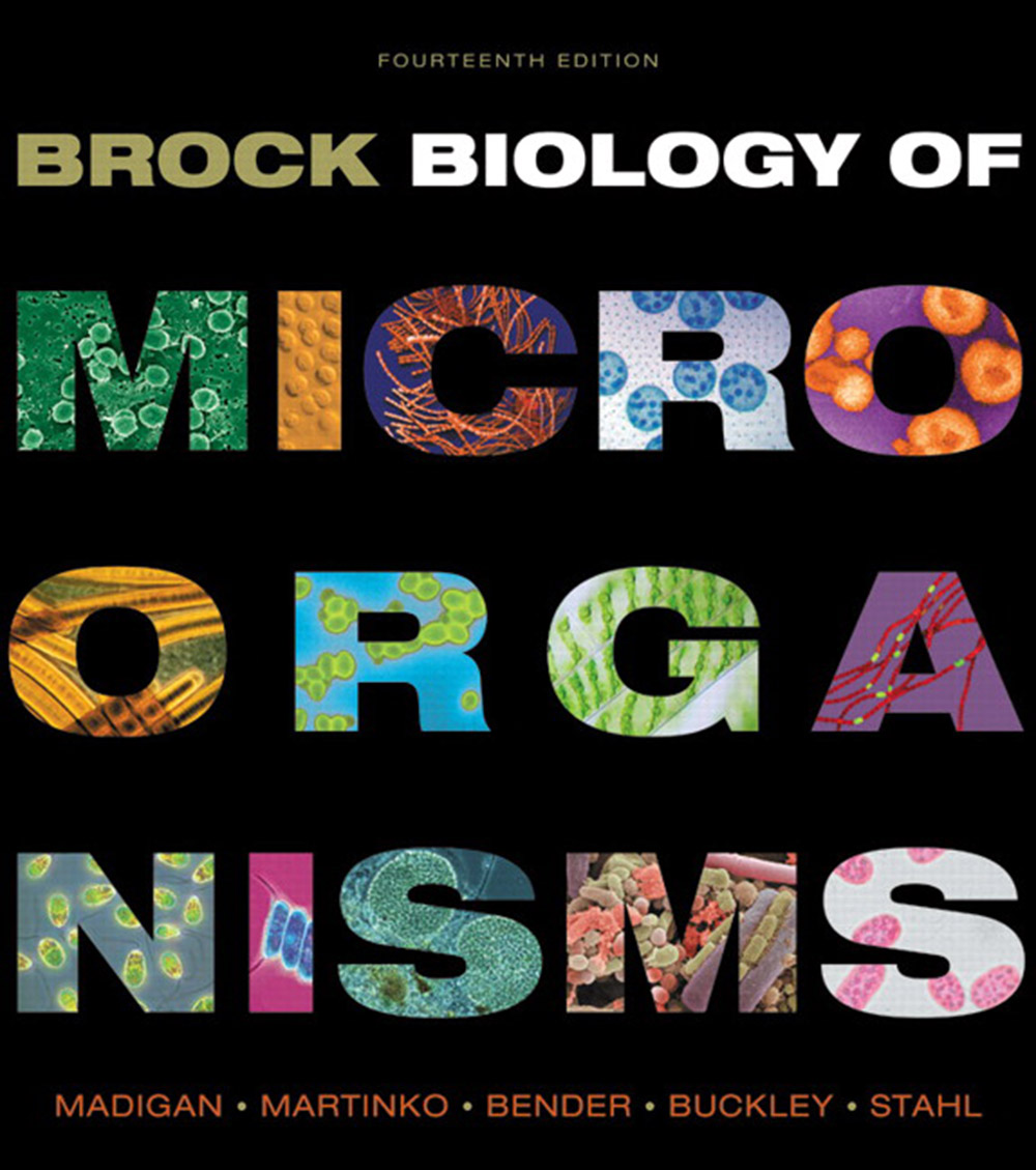 Brock Biology of Microorganisms 14th edition cover (by Pearson Education, Inc., 2015)