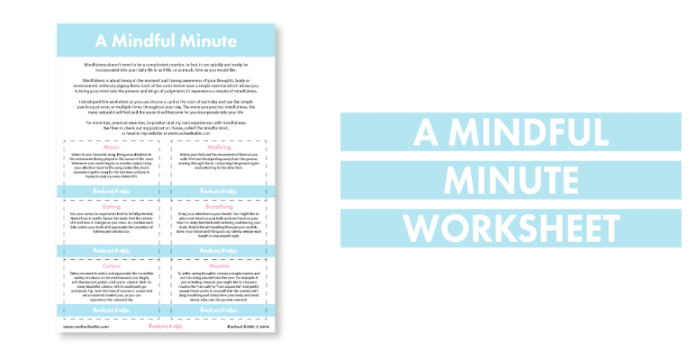 A Mindful Minute Worksheet