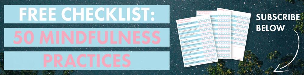 Free Mindfulness Checklist