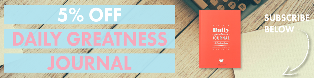5% off Daily Greatness Journal