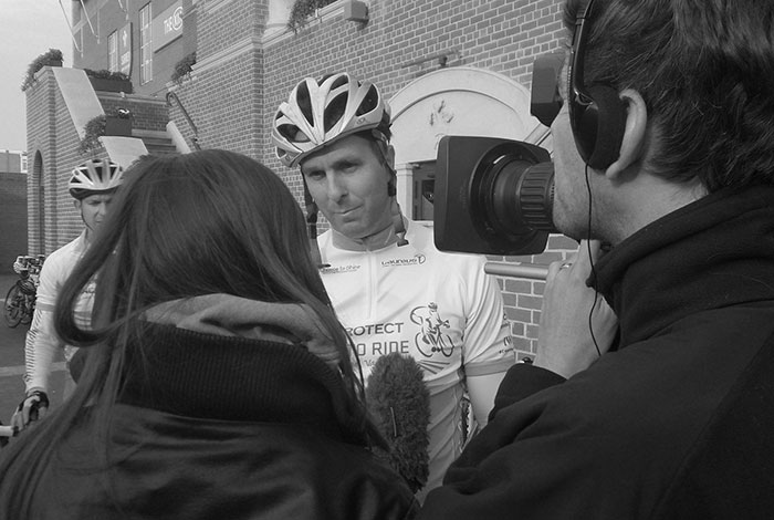 Michael Vaughan interview for Laureus PruProtect Chance to Ride charity bike ride