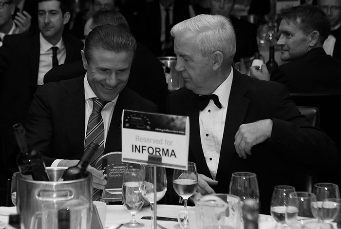 Sergey Bubka and WADA's Sir Craig Reedie at ISEM Awards