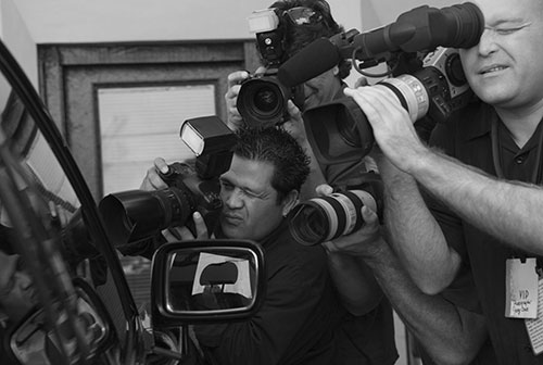 Media, press, paparazzi and cameras