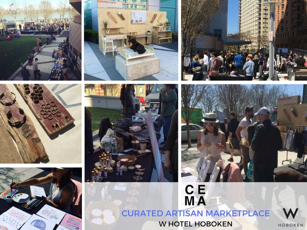 cema creative was commissioned to transform THE OUTSIDE LAWN OF THE W HOboken hotel into a curated marketplace. the marketplace was programmed to bring the community together for an afternoon to enjoy GOURMET food and shop local artisanal goods. The event brought in over 3000 attendees.
