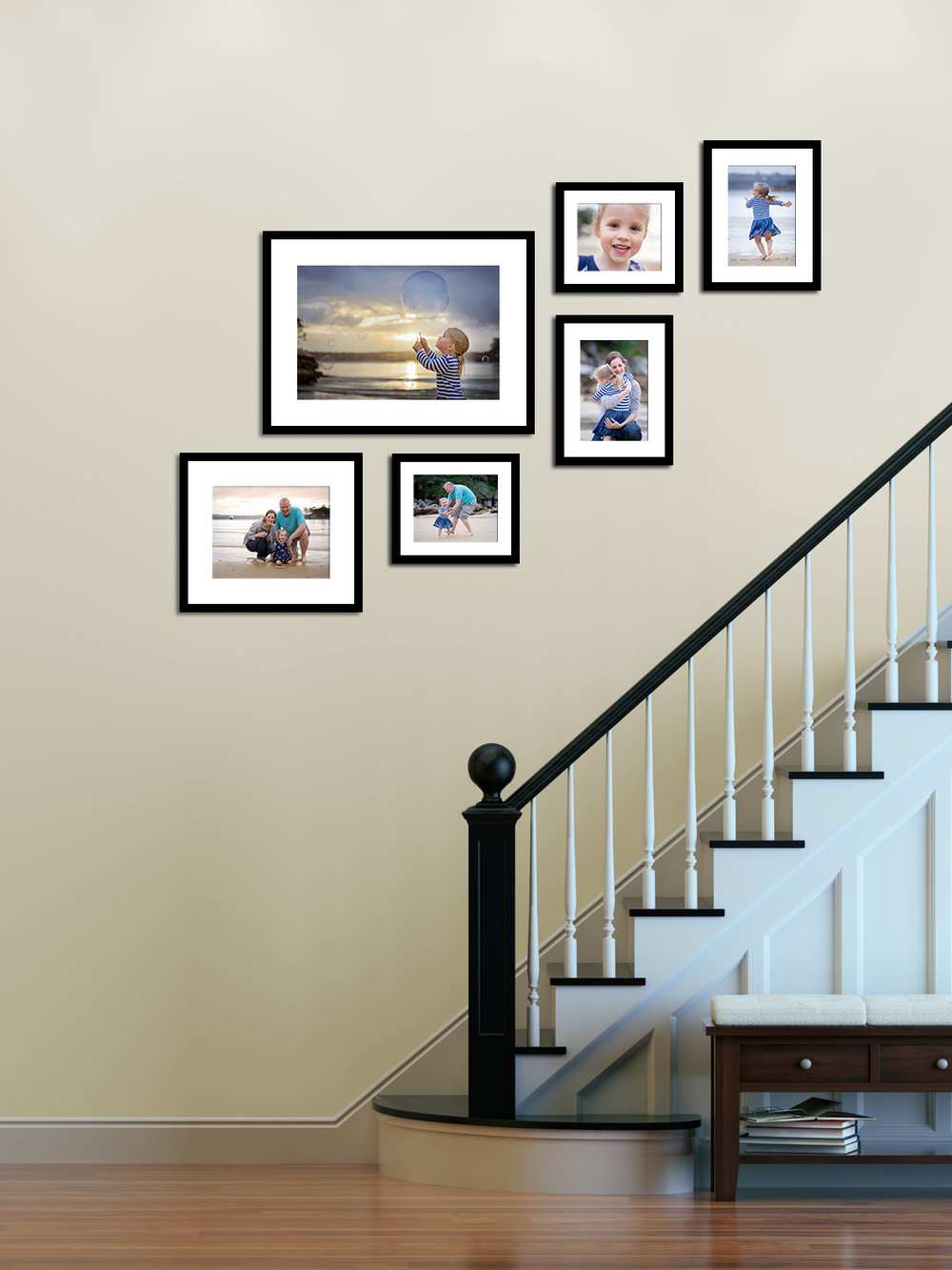 "Gallery No. 5   |   Six frames in four sizes from 8x10"" to 16x24"""