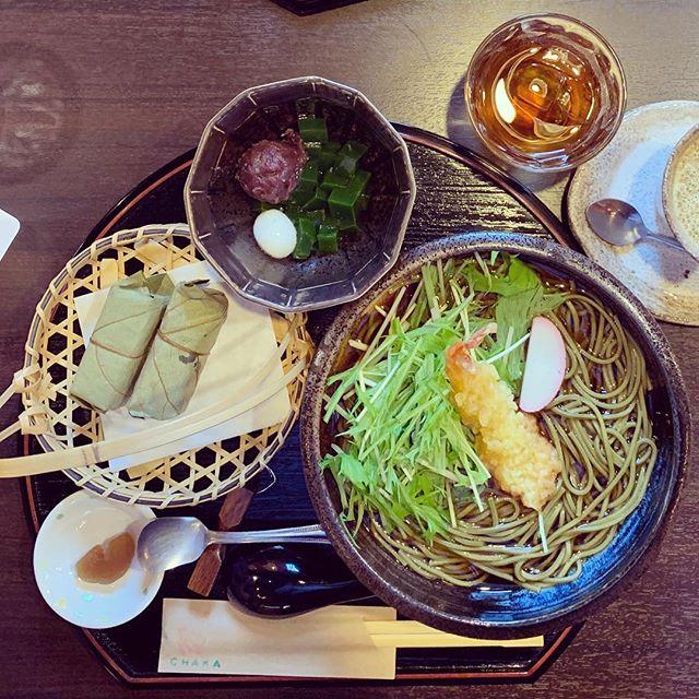 Green tea lunch 🍵💚 #chaka