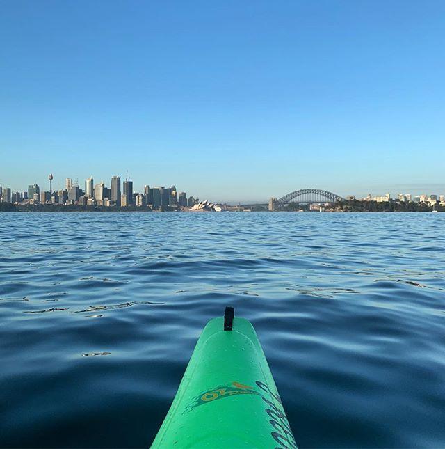 Fav spot 💚  #kayaking #kayak #sydney #sydneyharbour #cityofsydney #ozpaddle #ozpaddlesydney