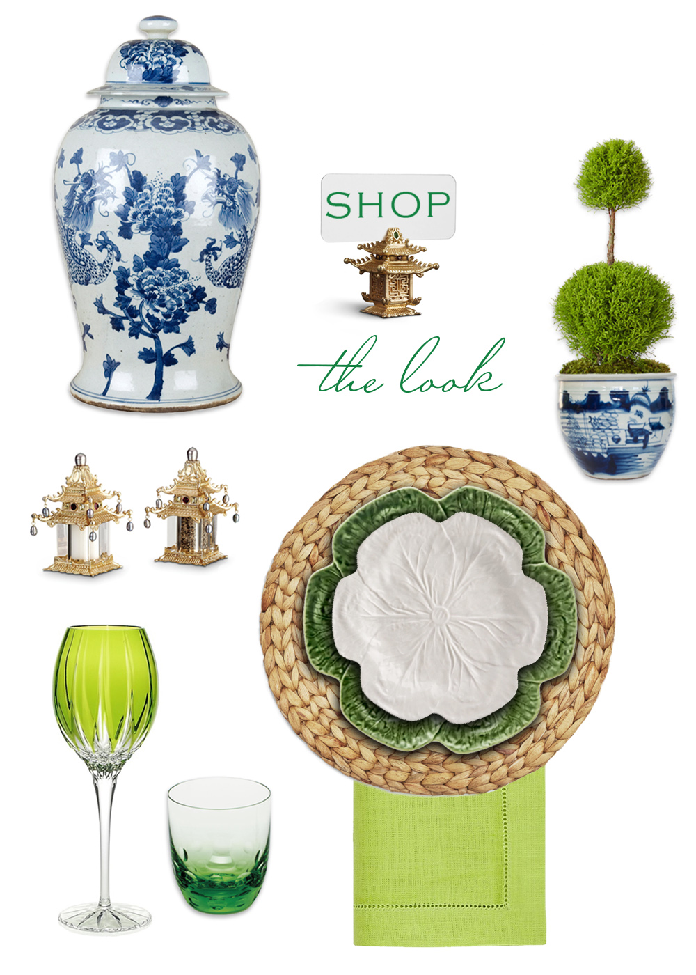 One Shop the look:  Room Challenge™ tabletop styling by Dallas interior designer Susan Palma
