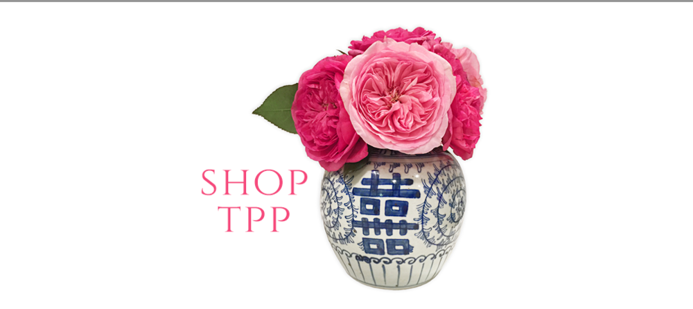 Shop blue and white at The Pink Pagoda.