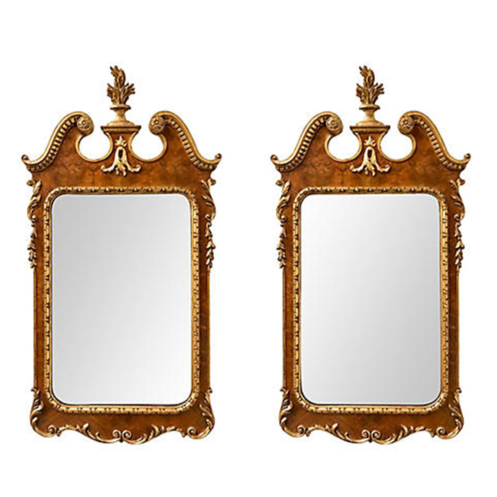 pair walnut and gilt mirrors.jpg