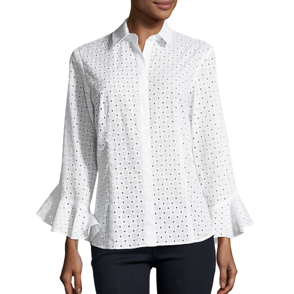 white flutter sleeve eyelet blouse nm.jpg