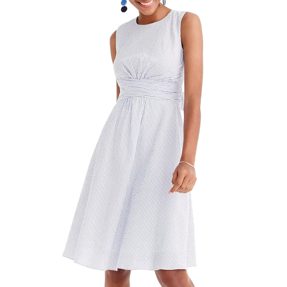 jcrew seersucker stripe waist tie dress.jpg