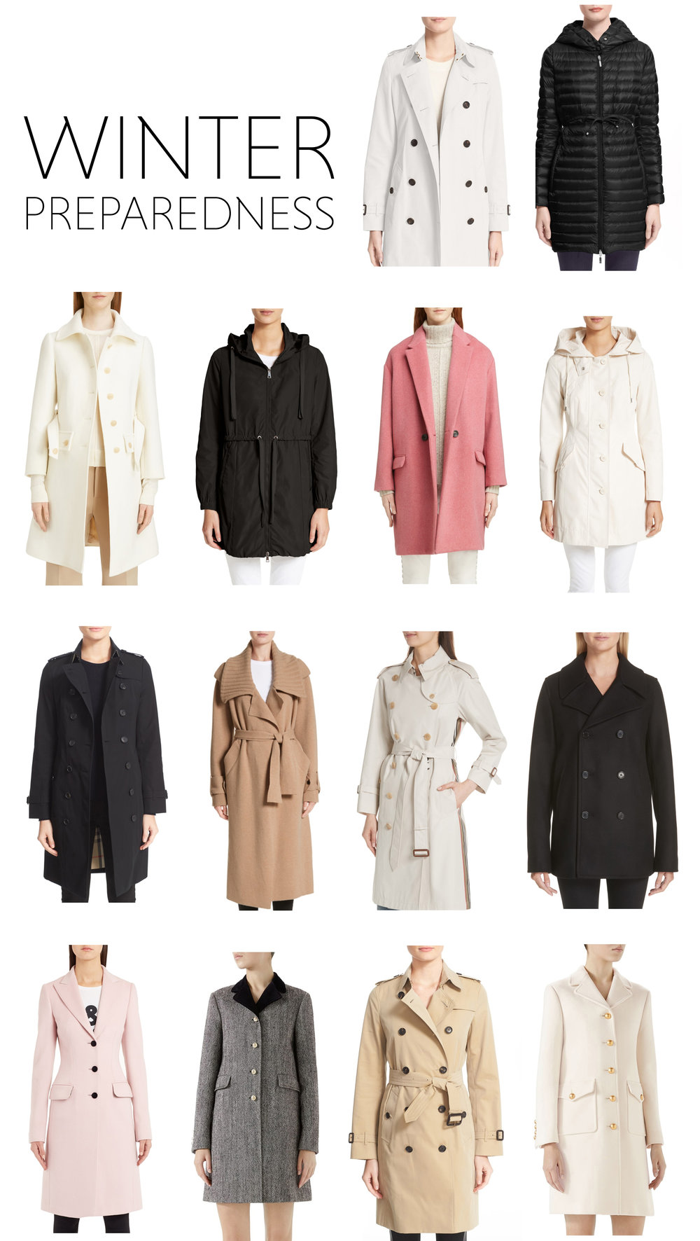 The Pink Pagoda's favorite winter coats from Nordstrom.