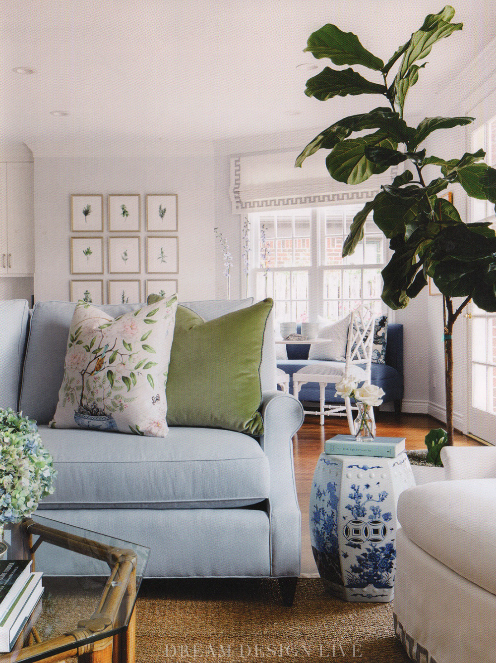 Chic blue and green living room from Dream Design Live, Paloma Contreras' fantastic new interior design book