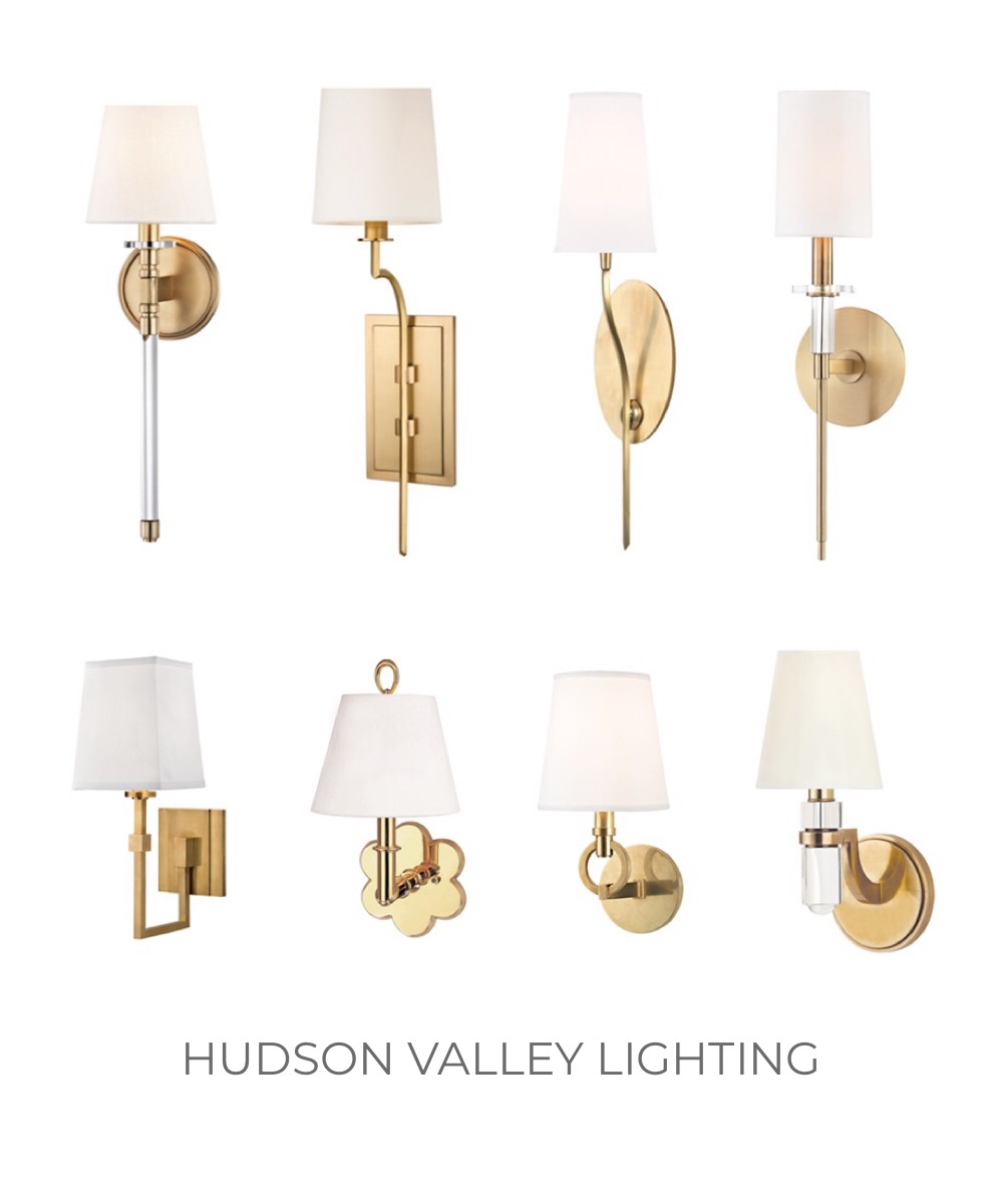 Hudson Valley Lighting brass wall sconces