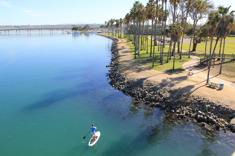 Mission Bay morning paddle - San Diego