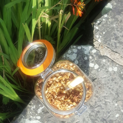 Jar of Orange + Pecan Glorious Granola