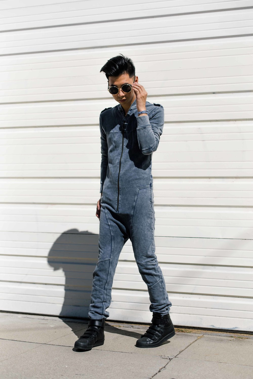 OnePiece Limited Edition -     Berzerk Jumpsuit (Dyed Midnight Blue)