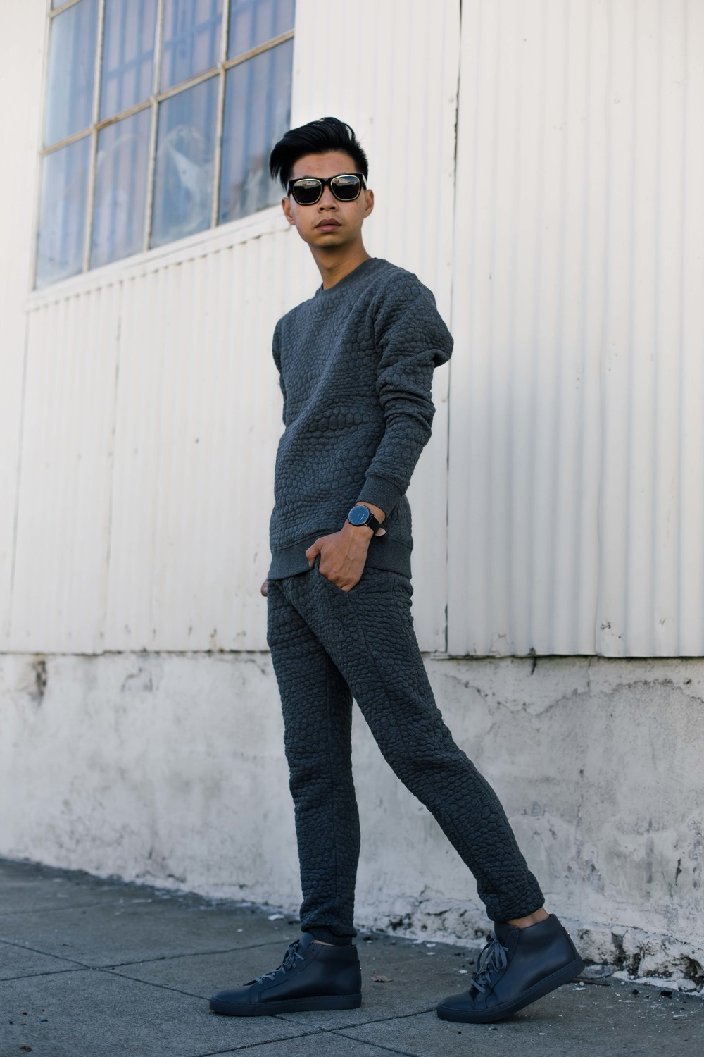OnePiece -    London College Sweater (Dark Grey Melange)  +  Berzerk Pant (Dark Grey Melange)