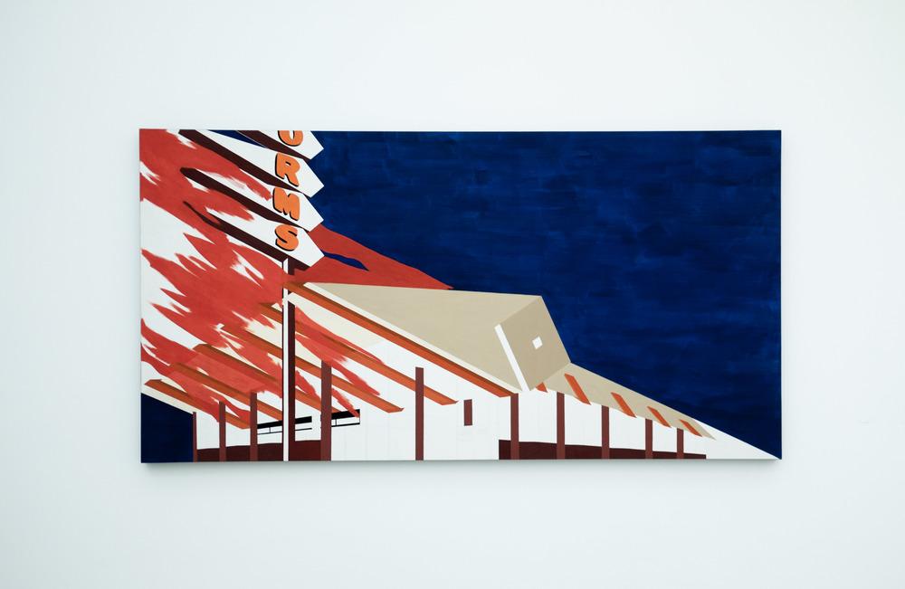 Ed Ruscha - Norms, La Cienega, On Fire
