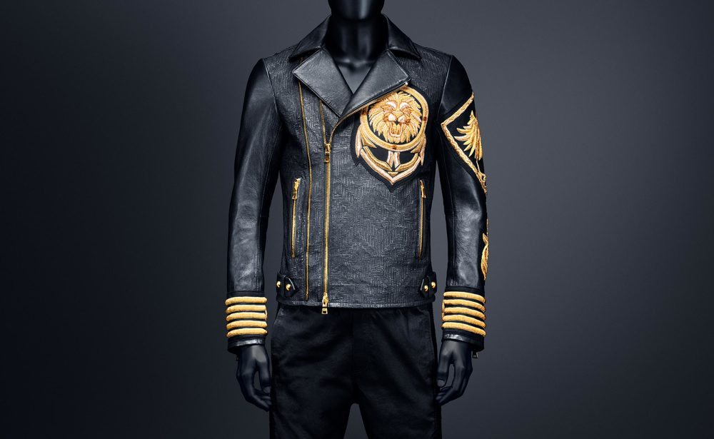 Leather Jacket with Embroidery - $549