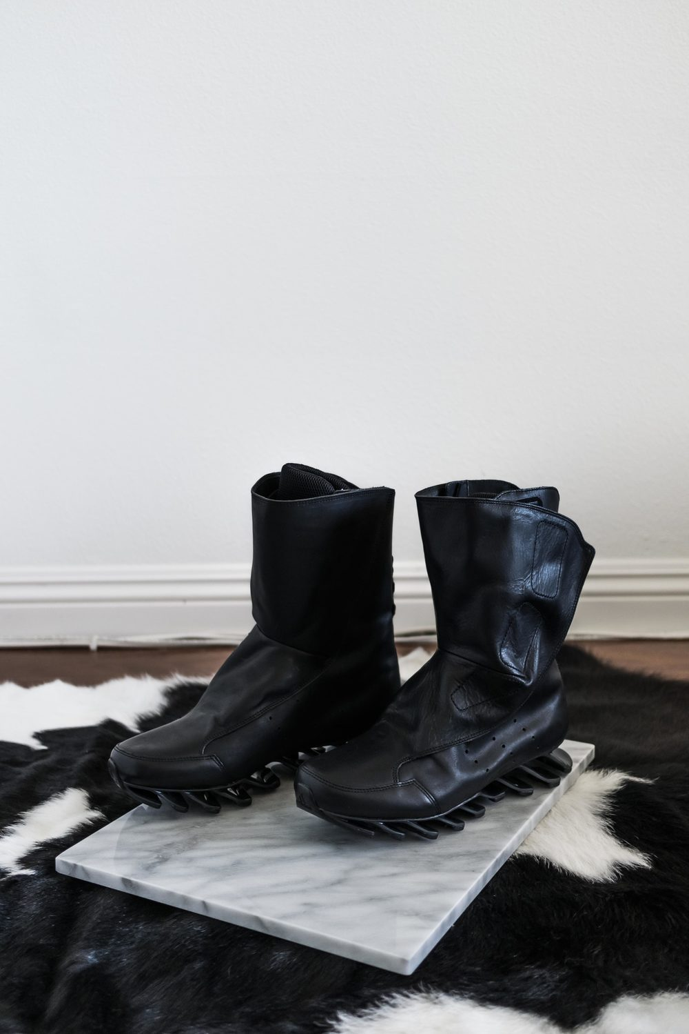 Meet the   Rick Owens boots   in all their glory - a divine combination of form meets function.
