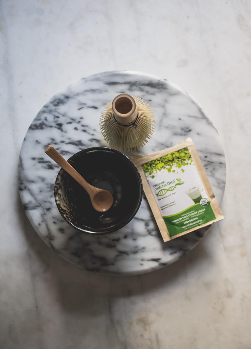 matcha green tea latte caffeine
