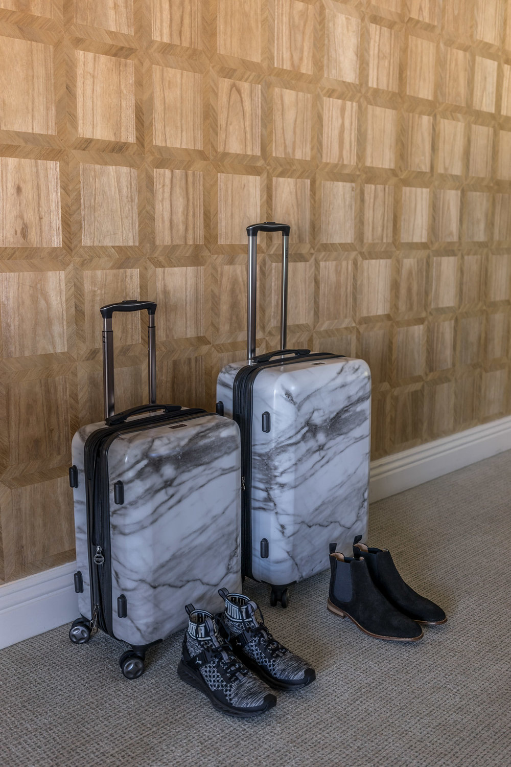 The Calpak Marble Suitcase Everyone Is Obsessed With