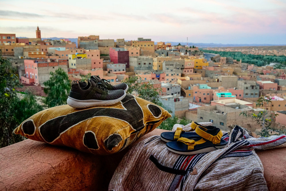 Overseeing the Ouarzazate sunset with my Teva footwear