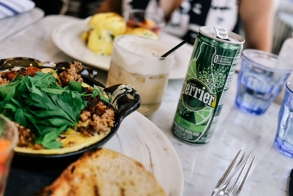 Creativity fueled by inspiration - Sometimes inspiration can materialize over an intimate brunch with Perrier.