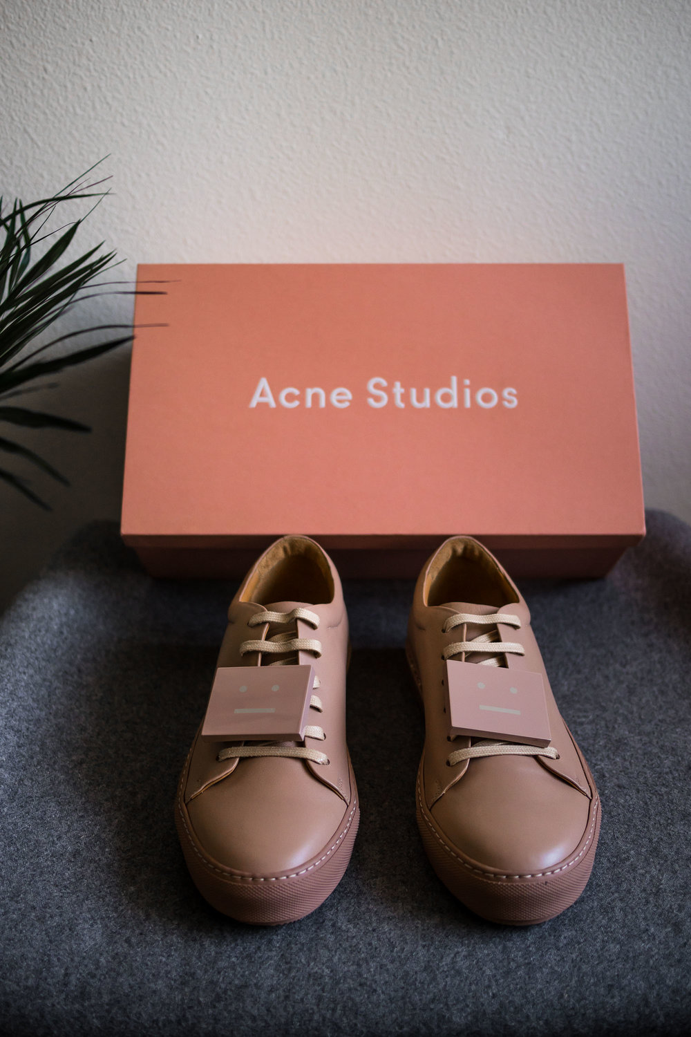 Your Millennial Pink Sneakers are here. - Courtesy of Acne Studios