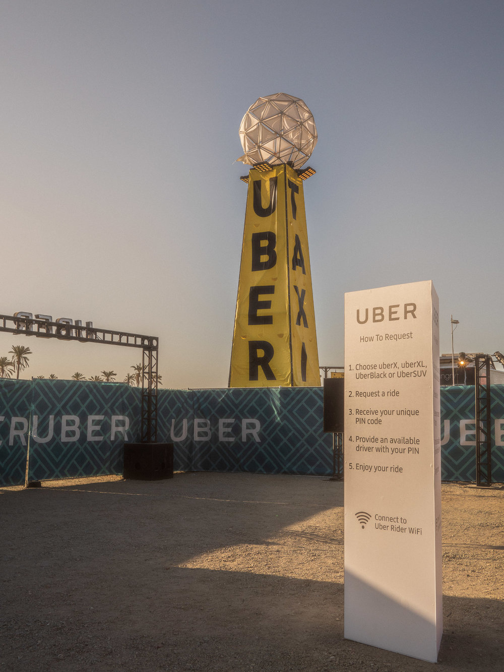 Uber's signage on-site are larger-than-life. It's hard to miss!