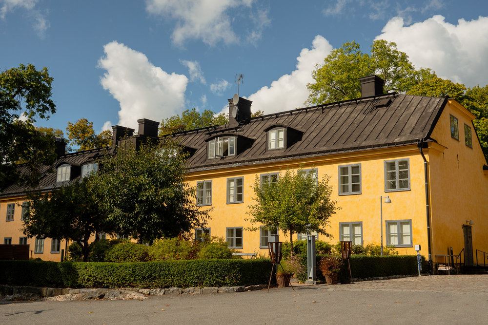 The gorgeous   Skeppsholmen Hotel  , where a luxury boutique hotel meets a traditional bed and breakfast ambience.  Address: Gröna gången 1, 111 86 Stockholm, Sweden Phone: +46 8 407 23 00
