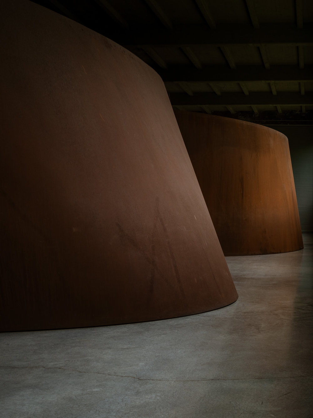 Rusty domes. Richard Serra.