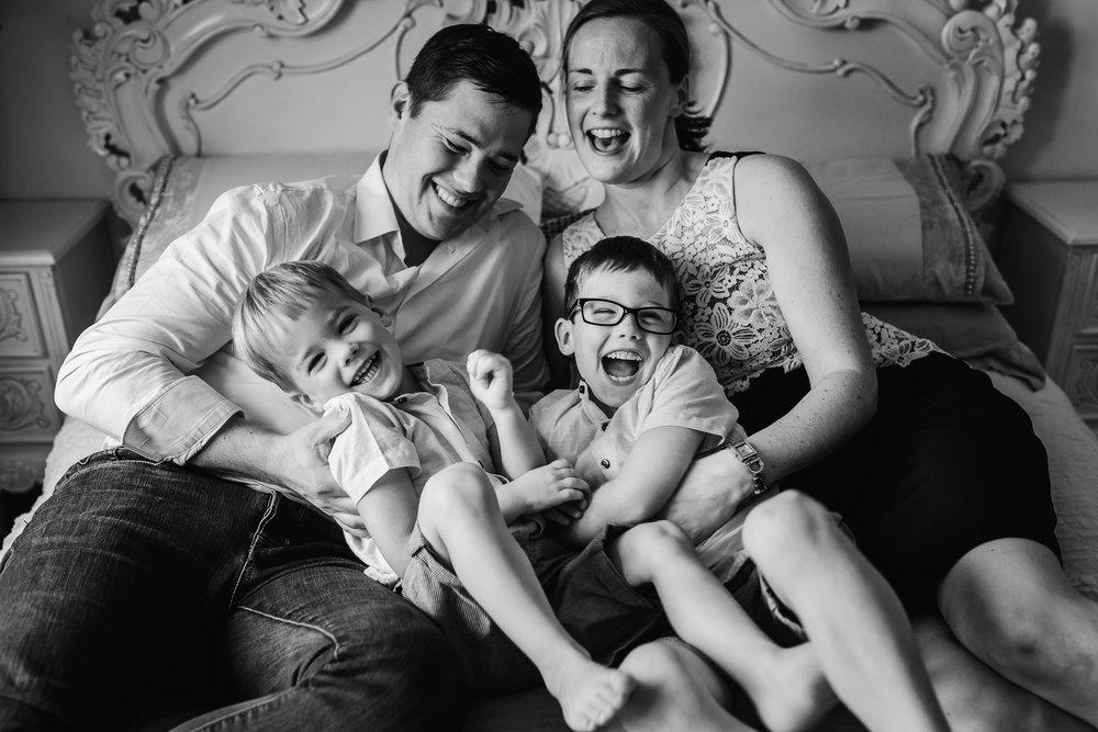 Family giggles