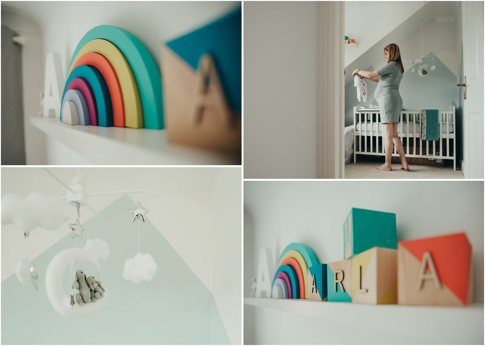 Nursery details | Rainbow baby.