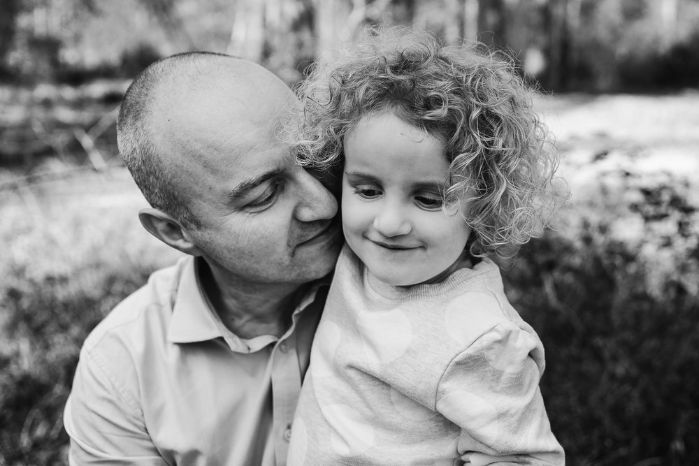 Father and daughter portrait.