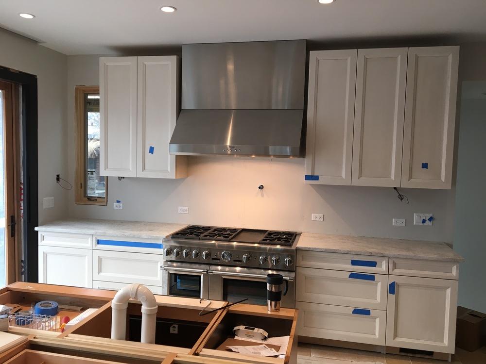 Appliances by ABT Electronics.  Custom Kitchen hood by ABT electronics.