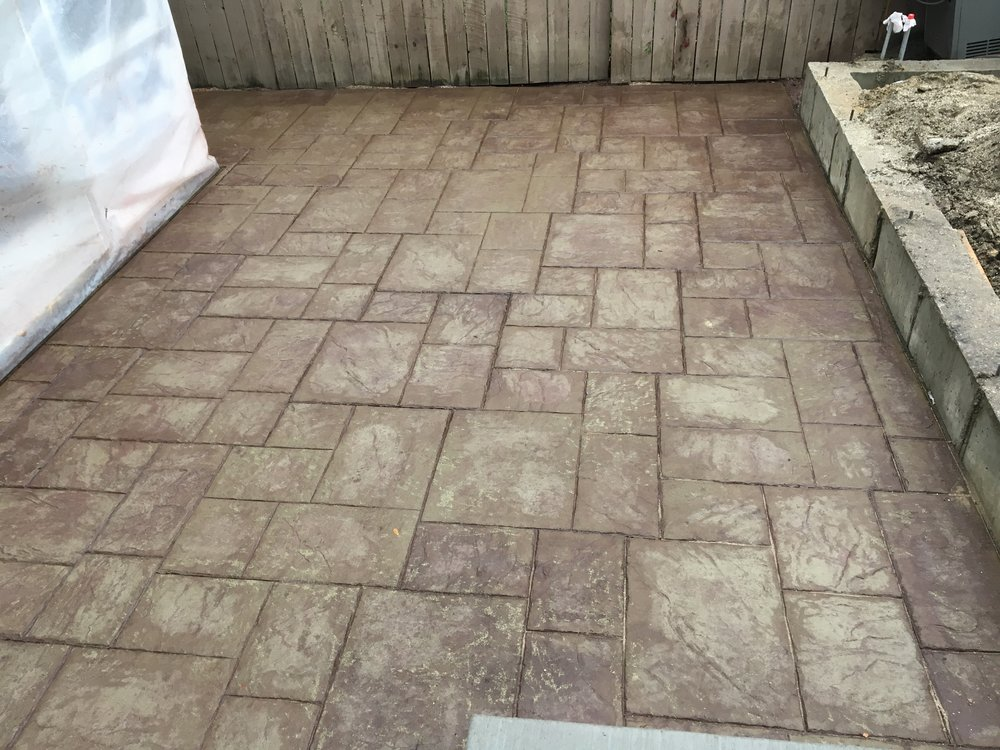 New stamped concrete