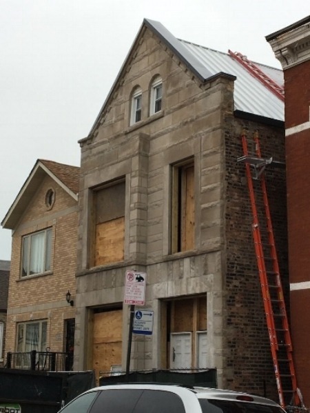 Pilsen 4-unit. Gut-rehab and restoration of multifamily building.  Construction